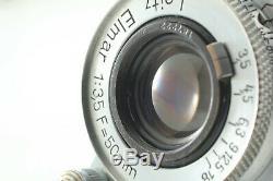 NEAR MINT Leica Leitz Elmar 50mm 5cm F/3.5 L39 LTM Lens From JAPAN #883
