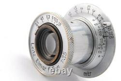 NEAR MINT Leica Leitz Elmar 50mm 5cm F/3.5 LTML39 Lens From JAPAN 1559
