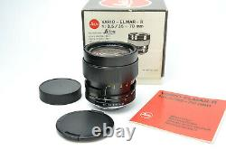 NEW! Leica Leitz Wetzlar Vario-Elmar R 35-70mm f3.5 zoom lens S/N 3173204