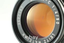 Near Mint withCase Leica LEITZ WETZLAR ELMAR-C 90mm f/4 M Mount Lens From Japan