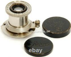 Nickel ELMAR 13.5 F=50mm RARE Model LEICA LTM L39 Lens by E. LEITZ Wetzlar 1932
