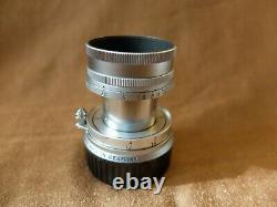 Objectif lens LEICA Leitz ELMAR 50mm 2,8 monture m + pare soleil Leica neuf ++++