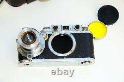 RARE Leica IIIb DRP 1939 RANGEFINDER Film Camera withs lens Leitz Elmar EXC