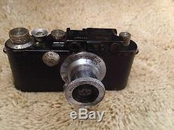 RARE working 1932 Leica II and Leitz Elmar 5cm 13.5 lens, Liberated in WW II
