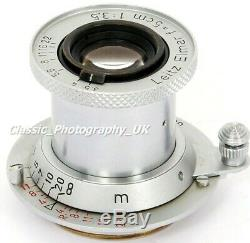 RED Scale Elmar f=5cm 13.5 Prime Lens by LEITZ Wetzlar for LEICA LTM / Leica M