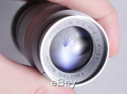 Rare Leica Ernst Leitz Wetzlar Elmar F/4 90mm Lens M39 mount with box & caps