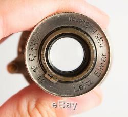 Rare Leitz Elmar 3,5/50mm Lens 1930/1931 No5 Sn. 130343 F/3,5 50mm Leica LTM M39