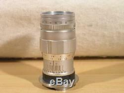 Rare Leitz Leica 90mm F4 3-Element Elmar-M Bayonet Lens