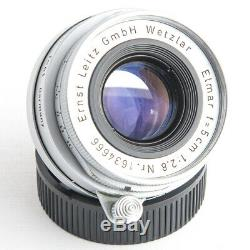 Serial No. 666 Leica Leitz ELMAR 50mm 12.8 Collapsible M39/L39/LTM Screw Mount
