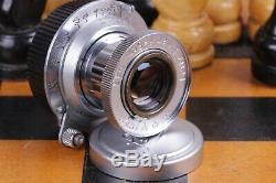 Silver Lens Leitz Elmar 3.5/50 mm RF M39 Zeiss Eleitz Wetzlar LEICA FED Zorki