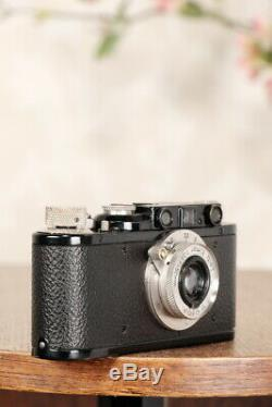 Superb! 1932 BLACK LEITZ LEICA II with nickel elmar lens, CLA'd, Freshly Service