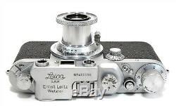 VINTAGE LEICA LEITZ IIIc withLEITZ ELMAR 5cm f3.5 LENS! EXCELLENT CONDITION