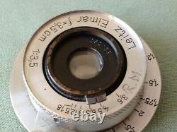VINTAGE LEITZ LEICA ELMAR f 3.5 / 35 LENS IN ORIGINAL BOX. Ekurz 252138