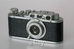 Vintage 35 mm. LTM Leica 11 with Leitz Elmar Collapsible 5 cm. F3.5 lens in UK
