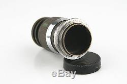 Vintage Ernst Leitz GmbH Wetzlar Camera Lens Elmar f=9cm 14 for Leica