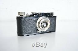 Vintage LEICA II CAMERA Model D LEITZ Elmar 50 MM Lens 1935 BLACK/ Leather case