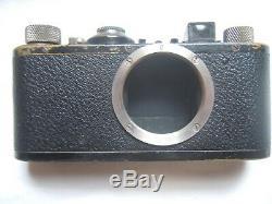 Vintage Leica Camera 1930's Original Case Leitz Elmar Lens & UV Filter