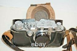 Vintage Leitz Leica IIIc DRP, Lens Elmar F/3.5, No. 412027, made 1946-1947
