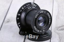 Zeiss Eleitz Wetzlar Leica lens Leitz Elmar 3.5/50 mm M39